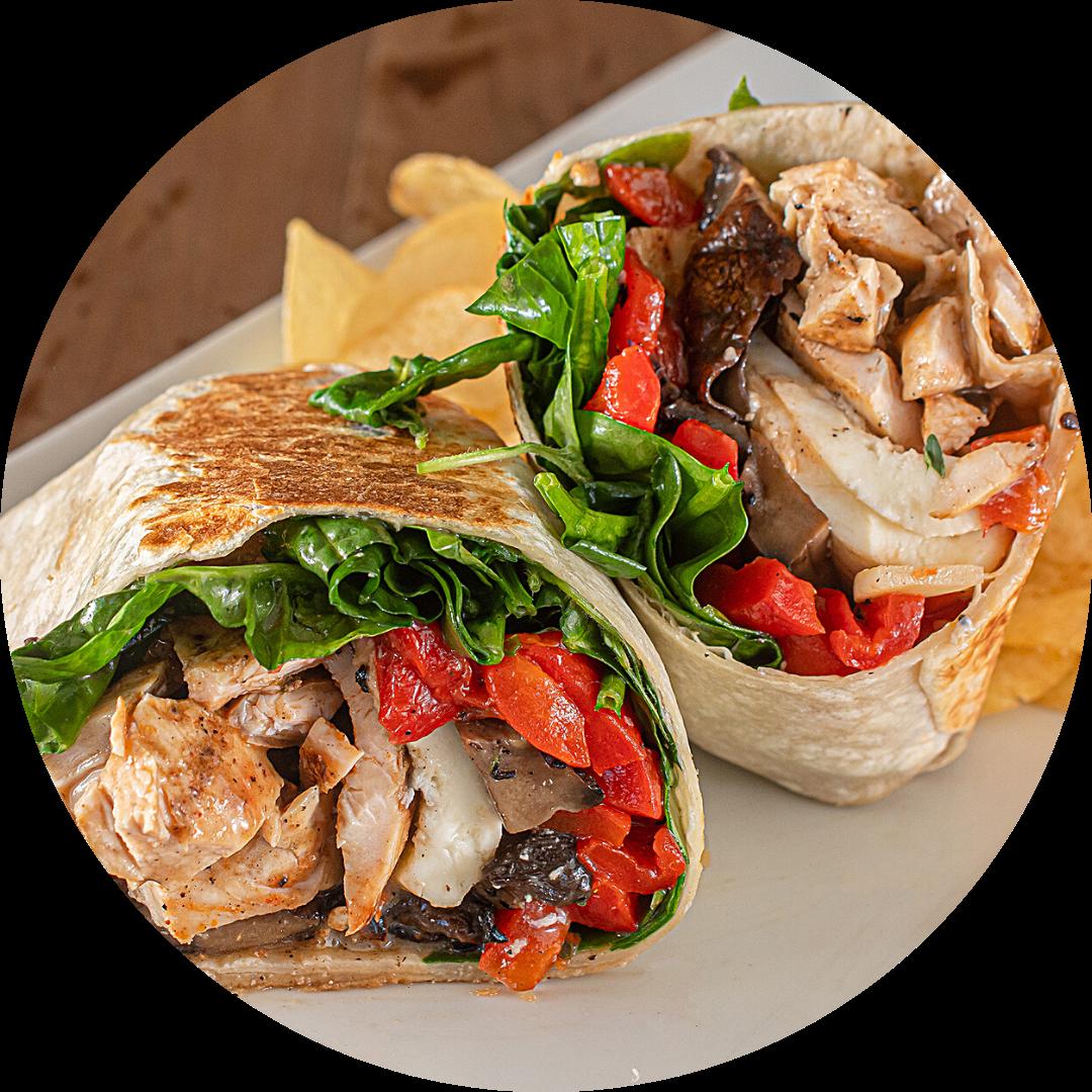 Portobello Chicken Wrap