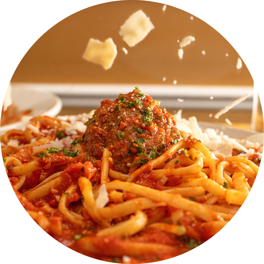 Spaghetti or Penne with Meatball or Sausage
