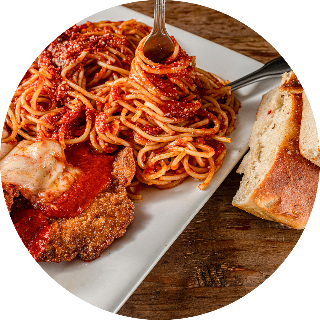 Veal Parmigiana with Pasta